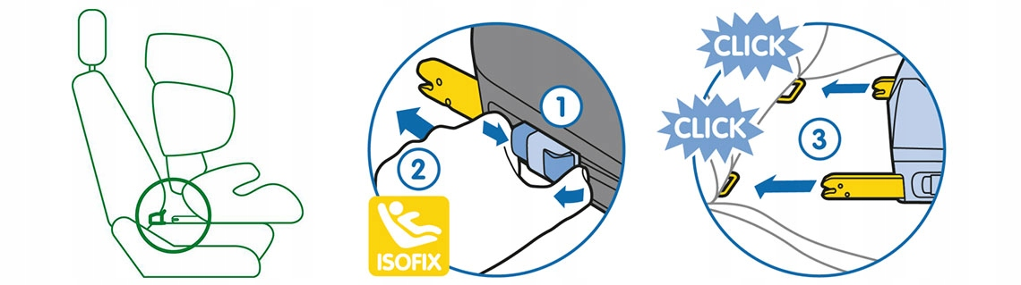 Fotelik samochodowy 9-36 Kinderkraft SAFETY ISOFIX Głębokość produktu 48 cm